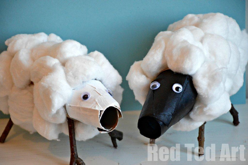 Cardboard Tube Sheep