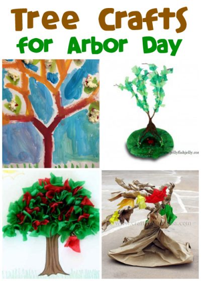 Arbor Day Tree Crafts at FunFamilyCrafts.com @funfamilycrafts