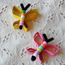 Cardboard Tube Beaded Butterfly