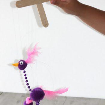Silly Bird Marionette