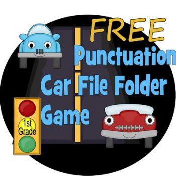 Punctuation File Folder Game