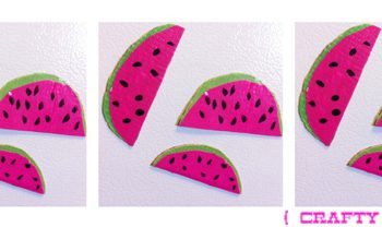 Duct Tape Watermelon Magnets