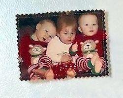 Fabric Photo Magnets