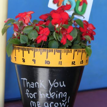 'Thanks for Helping Me Grow' Flowerpot