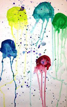 Jellyfish Watercolors