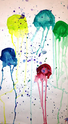 Jellyfish Watercolors