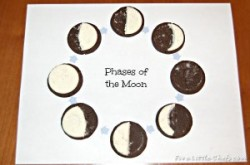 Phases of the Moon with Oreos