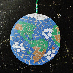 Earth Day Craft: Mosaic Earth