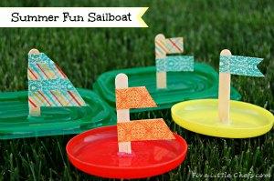 Plastic Lid Sailboats