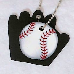 Baseball Charm Necklace