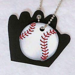 Baseball Charm Necklace