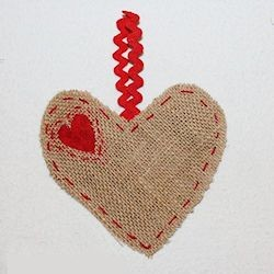 Burlap Heart Hanger