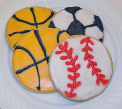 Decorated Sports Cookies