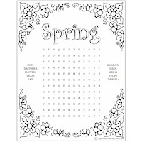 photograph regarding Spring Word Search Printable named Spring Phrase Look Puzzles Enjoyable Relatives Crafts