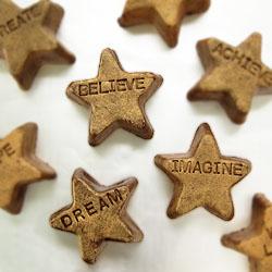 Fudgy Gold Stars