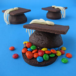 Candy Filled Graduation Cap Cookies
