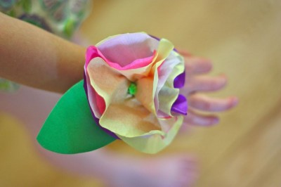 Tissue Paper Corsage Fun Family Crafts