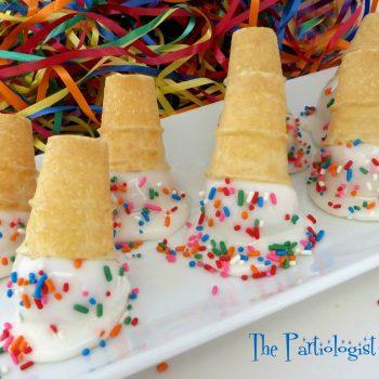 Sprinkle Cake Pop Cones