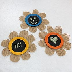 Burlap Flower Magnets