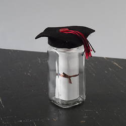 Graduation Cap Gift Jar