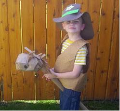 Paper Bag Stick Horse