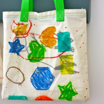 Handprinted Bags with Fabric Craypas