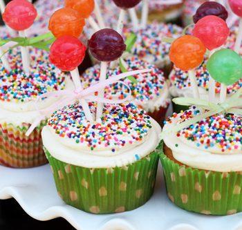 Balloon Bunch Cupcakes