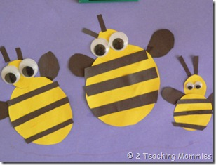 Construction Paper Bees