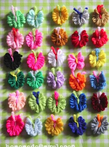 Tiny Yarn Butterflies