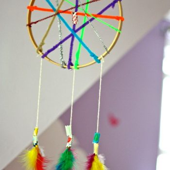 Dream Catcher with Fabric Beads