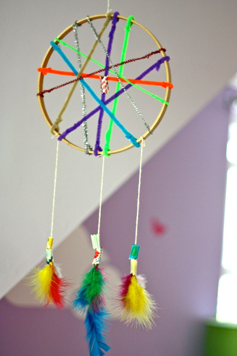 Dream Catcher With Fabric Beads Fun Family Crafts