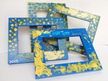 Finger Painted Picture Frames