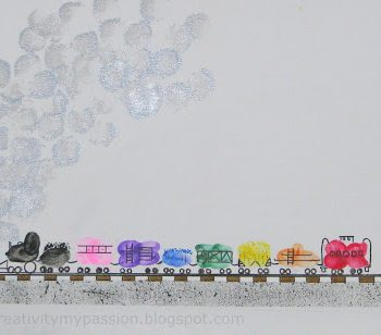 Freight Train Fingerprint Art