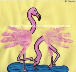Flamingo Handprint Craft