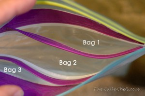 Triple Travel Snack Bag