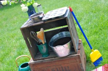 Outdoor Mud Pie Kitchen
