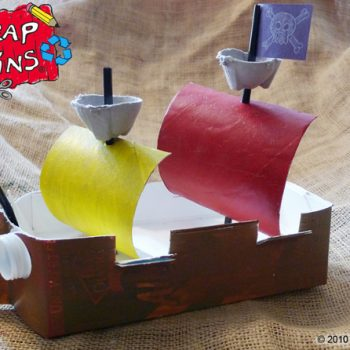 Milk Carton Pirate Ship