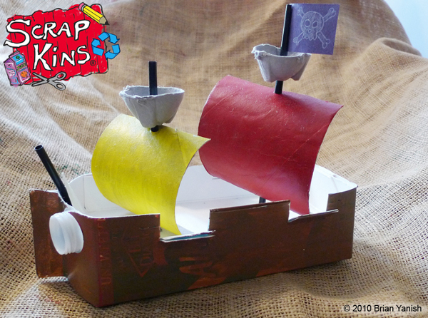Milk Carton Pirate Ship Fun Family Crafts