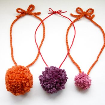 Pom Pom Necklaces