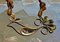 Quilled Bird Necklace