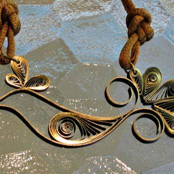 Quilled Bird Necklace