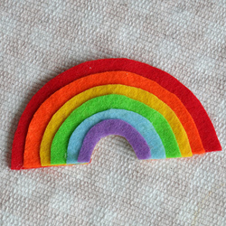 Layered Felt Rainbow Magnet