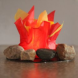 Lighted Campfire