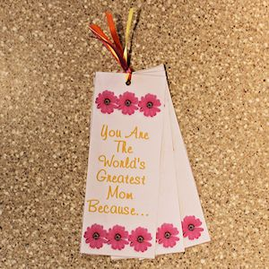 Printable Mother's Day Bookmark Card