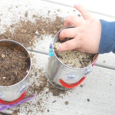 Tin Can Family Planters