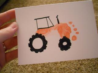 Tractor Footprint Card