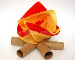 Cardboard Tube Campfire