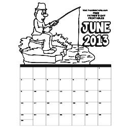 June Coloring Calendar