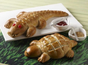 Alligator and Turtle Bread