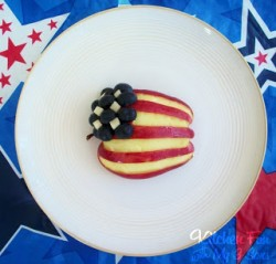 Red, White and Blueberry Apple Flag